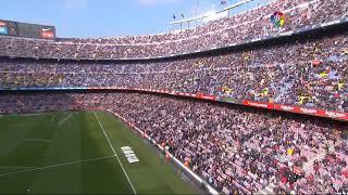 Calentamiento FC Barcelona vs Getafe CF