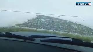 На Ямале депутат переплыл зимник на внедорожнике
