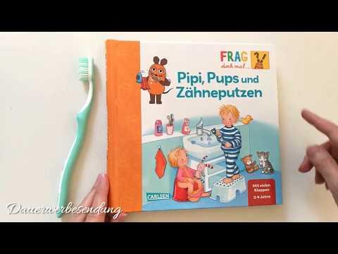 ❓🐭❗️ Pipi, Pups und Zähneputzen 🐭 Frag doch mal die Maus❓❗️ Buch mit vielen Klappen