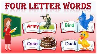 Four Letter Words    Preschool Learning    Kids Education Video