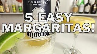 5 X EASY MARGARITA COCKTAIL RECIPES
