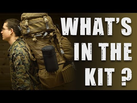 What's in the backpack of a 🇺🇸US Marine on cold weather training?