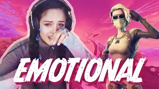 I cried on stream. *WARNING! EMOTIONAL!* - Valkyrae Fortnite Highlights
