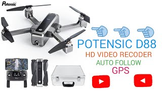 Potensic D88 Drone Review Potensic D88 No BS SUGAR Review Foldable Drone 5G Wifi FPV Drone With 2K