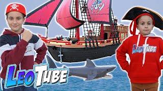 Leo y Mikel 🏴☠️ juegan Nuevos Piratas de Playmobil