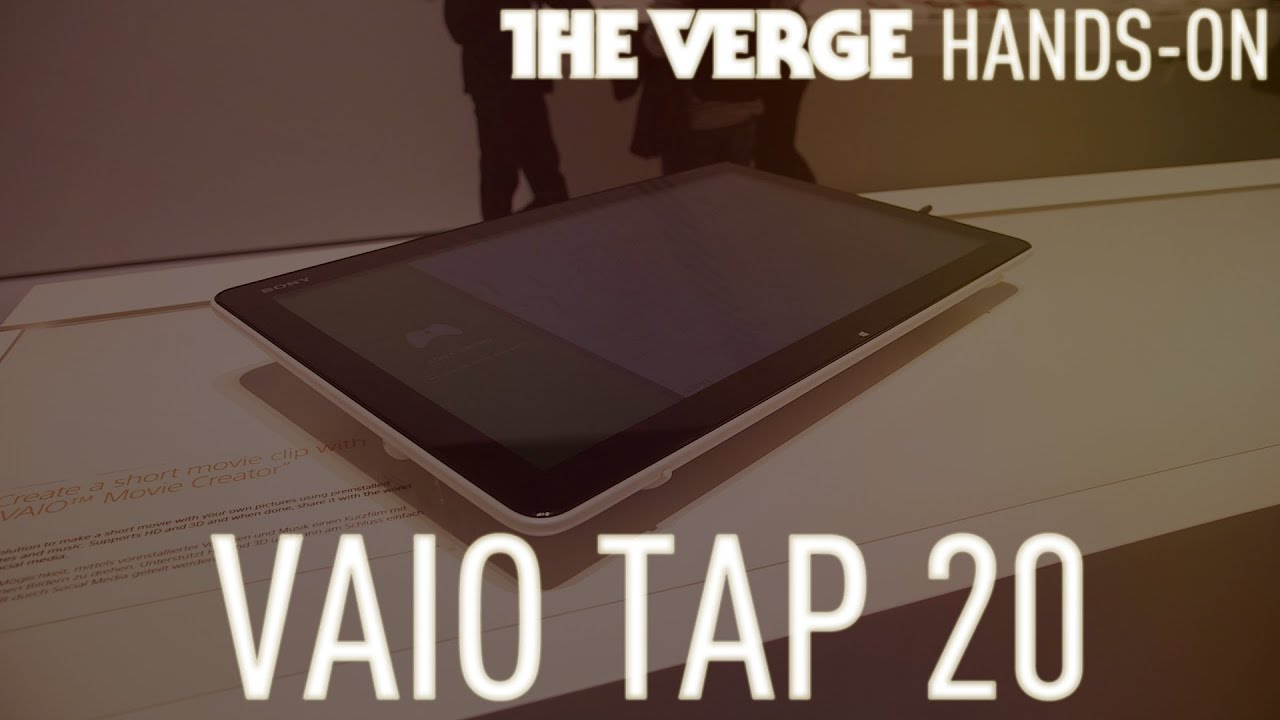 Vaio Tap 20 Windows 8 tabletop hands-on demo thumbnail