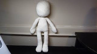 Basic Doll Body TUTORIAL // Amigurumi Doll Pattern