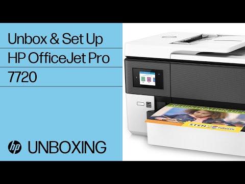 video huong dan cai dat may in hp officejet pro 7720 printer