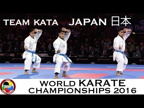Karate FINAL. Male Team Kata JAPAN. Kata Anan. 2016 World Karate Championships