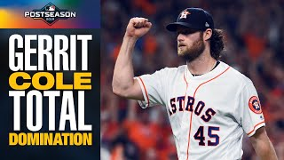 Astros' Gerrit Cole has INSANE start (8 IP, 2 H, 1 R, 10 K) to end Rays in ALDS | MLB Highlights