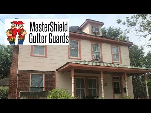 We removed the old copper gutters and installed new ones. We then installed MasterShield on the entire system.