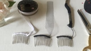 How To Prepare Your Hair Comb : 3 Different Ways (Ribbon, Tulle, Embroidery Floss)