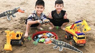 Trò Chơi Máy Xúc Giải Cứu Đàn Cá Khỏi Cá Sấu ♥ Min Min TV Minh Khoa