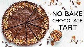NO BAKE CHOCOLATE TART ‣‣ Vegan & Gluten-free