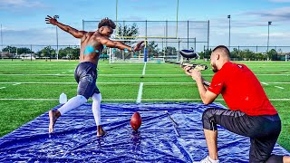 KICKING FIELD GOALS ON A SLIP N' SLIDE.. BUT IF I MISS I GET SHOT! (VERY PAINFUL)