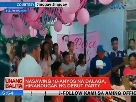[GMA]  UB: Nasawing 18-anyos na dalaga, hinandugan ng debut party