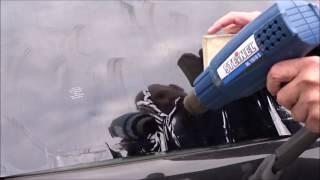 Folien1x1 Anleitung Montage Tönungsfolie mit Heißluft Schrumpftechnik