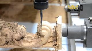 Производство резной пилястры. Резной декор из дерева.