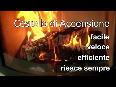 accendere un fuoco senza seccature con pellet di legno e il cestino di accensione