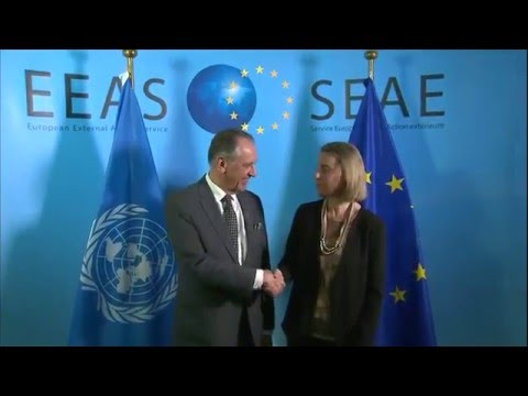 Mogherini with Jan ELIASSON, Deputy Secretary General of the United Nations