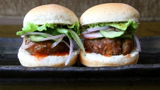 Yellow Curry Sliders With Pineapple Sweet Sour Sauce