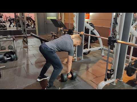 One Arm DB Row - 3x14@34kg 3/3