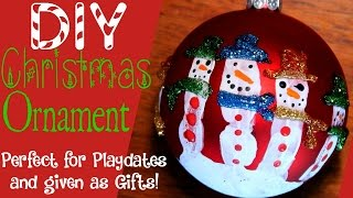 Homemade Christmas Crafts - Ornaments Snowman Handprint