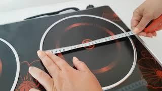 Инфракрасная плита Crownberg CB-1327 (две конфорки по 2000 Вт) от компании ТехМагнит - видео