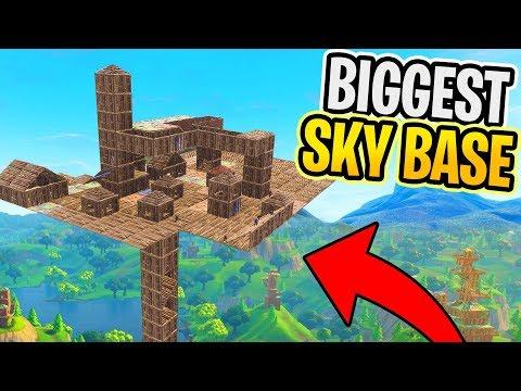 Fortnite BIGGEST Sky BASE! (Fortnite Battle Royale)