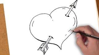 Comment Dessiner Un Coeur Avec Une Flèche