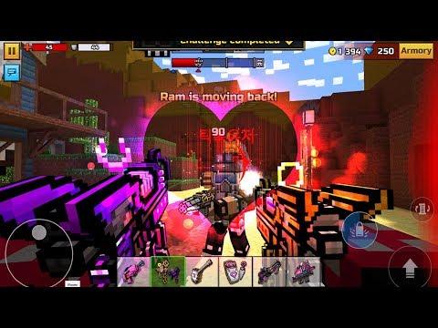 Pixel Gun 3D - Valentine Weapons in Clan Siege Battle