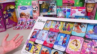 Frozen Sticker Book and Puzzles ! Toys and Dolls Fun for Kids | SWTAD