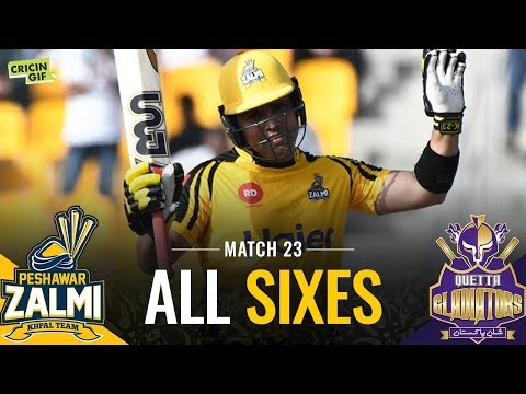 PSL 2019 Match 23: Quetta Gladiators v Peshawar Zalmi | PEL ALL SIXES