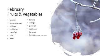 Best Fruits and Vegetables to Buy - Winter (December, January, and February)