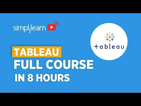 Tableau Full Course   Learn Tableau In 8 Hours   Tableau Training ...