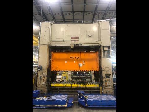 600 ton Bliss SE2-600-144-60 Straight Side Press, New 1997