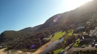 Touch and go then land in hang glider