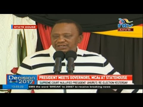 Uhuru Kenyatta speech during a meeting with the governors and MCA' at StateHouse