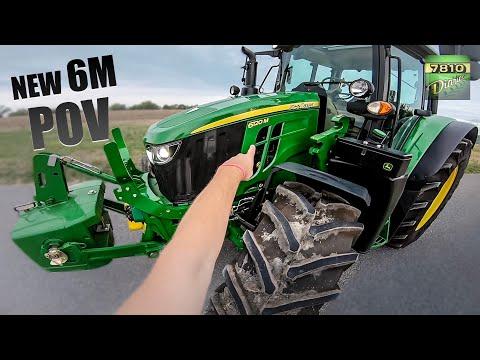 John Deere 6130M 156hk traktor - film på YouTube