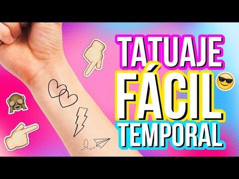Como hacer TATUAJES TEMPORALES CASEROS | Tatuajes falsos | Tatuajes caseros temporales fáciles