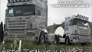 preview picture of video 'Catalonia Truck Photos   Scania R580 v8 Tributo a camaron'