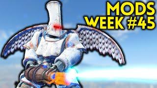 Fallout 4 TOP 5 MODS (PC & XBOX) Week #45 - TESLA GUN, KNIGHT ARMOR, VAULT 1080