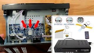Digital-Satelliten-TV-Empfänger Combo DVB T2+S2 HD | Unboxing und Demontage Satellitenempfänger