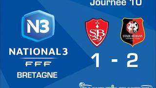 N3 (J10) : Résumé St. Brestois B - St. Rennais B (1-2)