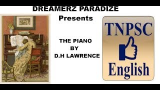 The Piano by D.H Lawrence | TNPSC general English exam