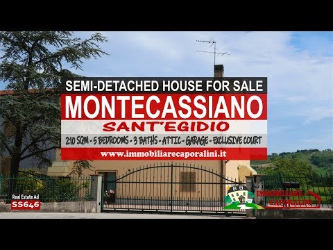 Immobiliare Caporalini real-estate agency - Semi-detached house - Ad SS646 - Video