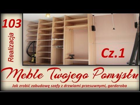 Jak zrobić zabudowę szafy z drzwiami przesuwnymi, garderoba. Poziomice Sola / a wardrobe