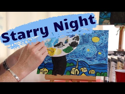 FREE Online Painting Class - Learn how to paint the Starry Night