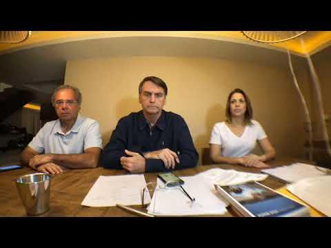 Live feita pelo candidato à presidência Jair Bolsonaro