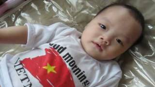 Baby Evan Binh Minh, first month after being adopted from Vietnam